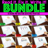 Sentence Writing Practice - Fix It! Read It! Write It! BUNDLE
