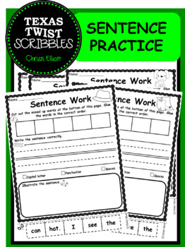 Sentence Writing Practice and Building with Cut, Glue, Write, Illustrate
