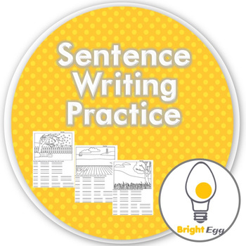 Sentence Writing Practice - work on spaces