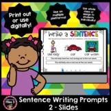Sentence Writing Prompts 2 - Slides