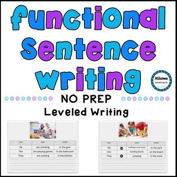 Sentence Writing- SPED/AUTISM/ELEMENTARY