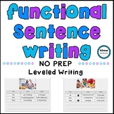 NO PREP Functional Sentence Writing (describing pictures)