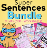 Sentence Writing ALL YEAR LONG Bundle (Differentiated)