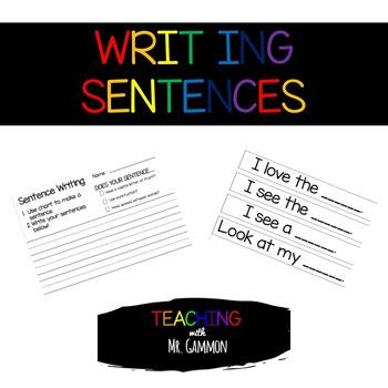 Sentence Writing Starters