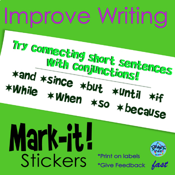 Sentence Writing Stickers: Give Feedback and Help Edit Qui