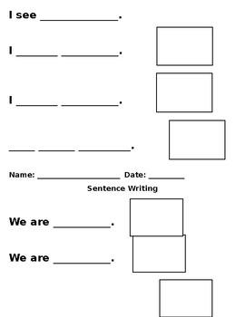 Sentence Writing Template