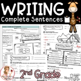 Writing a Sentence Complete Unit with Lesson Plans, Activi