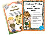 Sentence Writing Unit: with 2 Power Point Presentations Plus Fix It Sentences!