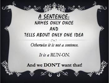 Sentence Writing Visuals #2