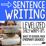 Sentence Writing Warm-Ups (Back to School)