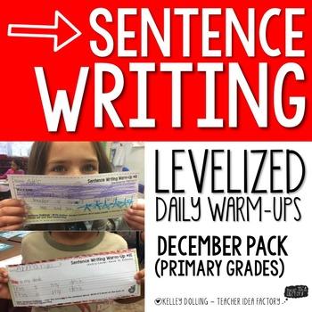 Sentence Writing Warm-Ups (December)