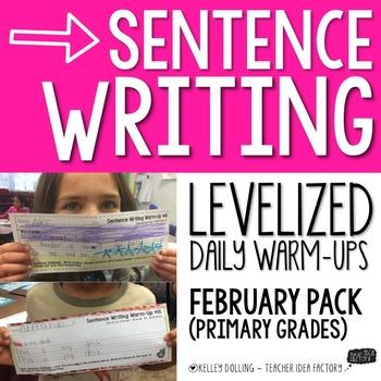 Sentence Writing Warm-Ups (February)
