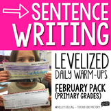 Sentence Writing Warm-Ups (February)
