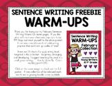 Sentence Writing Warm-Ups Freebie (February)