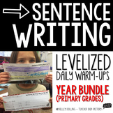 Sentence Writing Warm-Ups (Bundle)
