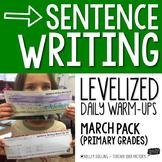Sentence Writing Warm-Ups (March)