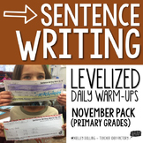 Sentence Writing Warm-Ups (November)