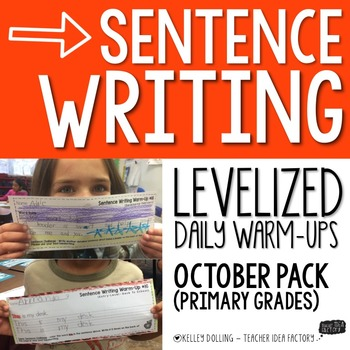 Sentence Writing Warm Ups (October)