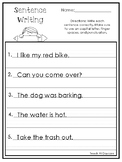 Sentence Writing Worksheets. Copy the Sentences Practice Worksheets.