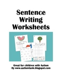 Sentence Writing Worksheets for Kids with Autism