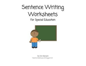 Sentence Writing Worksheets for Special Education