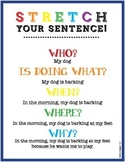 Sentence Writing - adding details, including who, what, when, where, and why