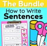 How to Write Sentences ALL YEAR LONG Bundle - Sentence Writing