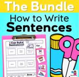 How to Write Sentences ALL YEAR LONG Bundle - Sentence Writing