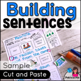 Sentence Writing and Cut and Paste Sentence Structure Freebie