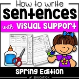 Sentence Writing and Cut and Paste Sentence Structure Spring