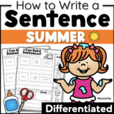 Sentence Writing and Cut and Paste Sentence Structure Summer