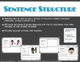 Sentence Writing and Sentence Structure Practice!!
