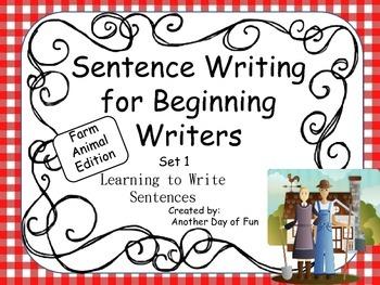 Sentence Writing for Beginning Writers - Learning to Write Sentences