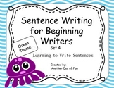 Sentence Writing for Beginning Writers - Learning to Write Sentences Ocean Theme