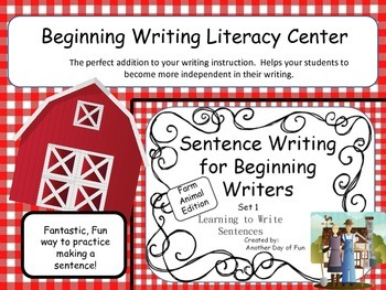 Sentence Writing for Beginning Writers - Learning to Write Sentences