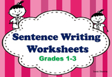 17, 1st, 2nd, 3rd Grade Sentence Building, Picture Writing, No Prep Sub Plan