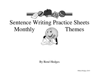 Sentence Writing pages-Monthly Themes