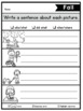 Sentence Writing with Picture Prompts