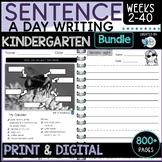 Writing Sentences Kindergarten / Foundation All Year