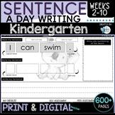 Writing Sentences Kindergarten / Foundation Term 1