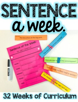 Sentence a Week Morning Meeting Activity.