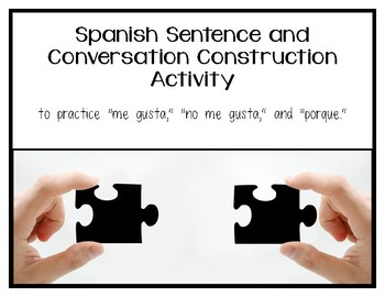 Sentence and Conversation Activity - Spanish