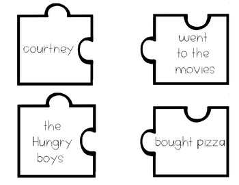 Sentence and Fragment  Puzzle Center Activity