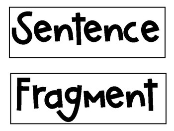Sentence and Fragment Sorting Game