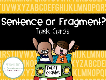 Sentence and Fragment Task Cards