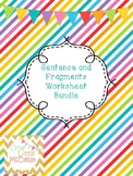 Sentence and Fragments Worksheet Bundle