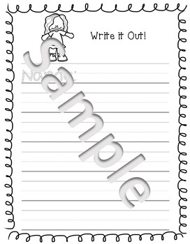 Sentence and Handwriting Worksheets BLANK
