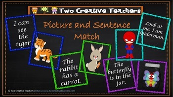 Sentence and Picture Match - Sight Words