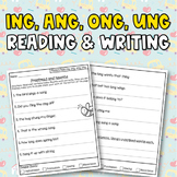 Glued Sounds (ing, ang, ong, ung) Reading and Writing