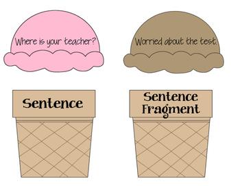 Sentence and Sentence Fragment Sort